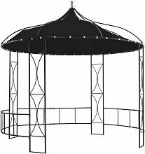 Pavillon 300 x 290 cm Anthrazit Rund 46279 -