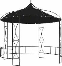 Pavillon 300 x 290 cm Anthrazit Rund - Youthup