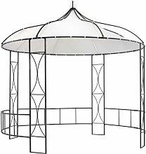 Pavillon 300 x 290 cm Weiß Rund - Youthup