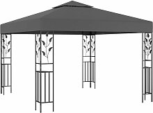 Pavillon 3x3 m Anthrazit 46214 - Topdeal