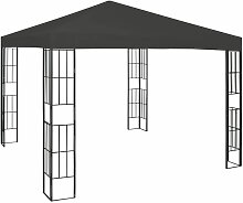 Pavillon 3x3 m Anthrazit 46236 - Topdeal