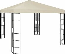 Pavillon 3x3 m Creme 46234 - Topdeal