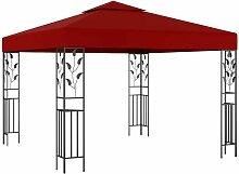 Pavillon 3x3 m Weinrot VD46215 - Hommoo