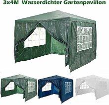 Pavillon 3x4m Gartenpavillon mit 4 Seitenteile,