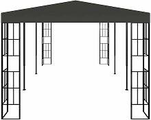 Pavillon 3x6 m Anthrazit VD46237 - Hommoo