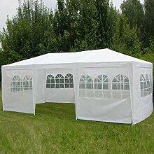 Pavillon 3x6m, mit 8 Seitenwänden,weiß