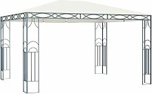 Pavillon 400 x 300 cm Cremeweiß 46267 - Topdeal