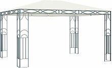 Pavillon 400 x 300 cm Cremeweiß VD46267 - Hommoo