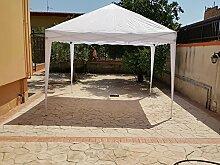 Pavillon, aus Eisen und Metall, faltbar nach dem Ziehharmonika-Prinzip, schnell ausziehbar, weiße Bespannung, 3x3m, für Camping und Märkte