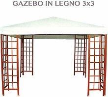 Pavillon aus Holz Garten 3x 3in Birke Hartschale für Möbel Outdoor