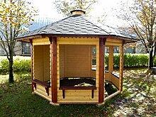 Pavillon aus Holz Garten-9,9qm