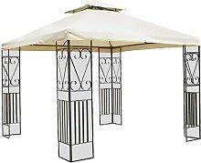Pavillon aus Metall verziert top Polyester 300 x