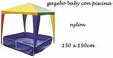 Pavillon Baby mit Pool 150x 150cm.