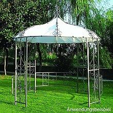 Pavillon Burma 300cm rund weiss Stahlgestell
