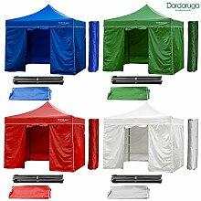 Pavillon faltbar 3x 3m faltbar A Akkordeon Markt Zelt Packsack und Mauern grün