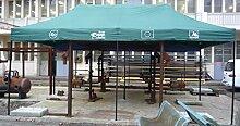 Pavillon faltbar Stahl thermo-laqué 6x 3m mit 3Seiten Kopfstütze und 1Schutztasche
