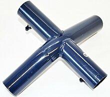 Pavillon Four Season Ersatzteile 3x6m Dach Seitenteile Verbinder Blau Weiß Metro, Motiv/Art:Teil D Metalldachkreuz + G Flügelschraube