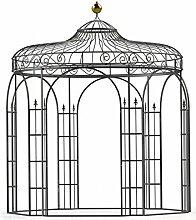 Pavillon Garten, Metallpavillon, Gartenlauben, Rosenpavillon, Pavillon Stabil Antwerpen Ø 260 cm (Schwarz Bergolin)