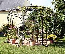 Pavillon Garten, Metallpavillon, Gartenlauben, Rosenpavillon, Pavillon Stabil Holland Ø 350 cm (Verzinkt)