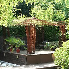 Pavillon Garten, Metallpavillon, Gartenlauben, Rosenpavillon, Pavillon Stabil Empire 300 x 300 cm (Eisenblank)
