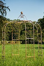Pavillon / Gartenpavillon Ø: 230cm aus Metall Eisenpavillon Pergola Ros