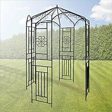 Pavillon - Gartenpavillon 160 x 160 x 250 cm Schwarz