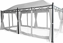 Pavillon - Gartenpavillon - Partypavillon Korpus aus Aluminium und Metall 3,0 x 5,9 Meter