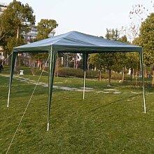 Pavillon Gartenpavillon Partyzelt 3 x 3 m Bierzelt Gartenzelt Hochzeit Festzelt Zelt Farbwahl L (Grün)