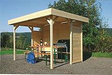 Pavillon Hedera S710 - 70 x 70 mm Pfostenstärke, Grundfläche: 5,32 m², Flachdach