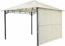Pavillon hellgrau TEPRO LEHUA 330x330x285 cm Garten Camping Terrasse 5509