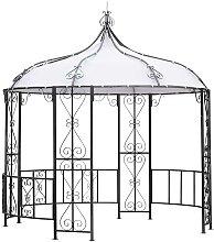 Pavillon im romantischem Design Anthrazit Weiß