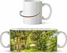 Pavillon in bezaubernder Landschaft in Florida als Motivetasse 300ml, aus Keramik weiß, wunderbar als Geschenkidee oder ihre neue Lieblingstasse.