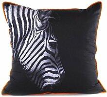 Pavillon Innen 3700635707004Tara Kissen Polyester schwarz/orange 45x 45cm
