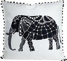Pavillon Innen 3700635711827Elmer Kissen Polyester schwarz/weiß 45x 45cm