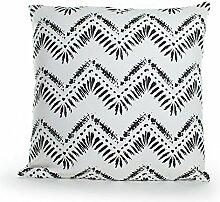 Pavillon Innen Buffalo Kissen Polyester Baumwolle Schwarz/Weiß 45x 45cm