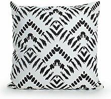 Pavillon Innen Dakota Kissen Polyester Baumwolle Schwarz/Weiß 45x 45cm