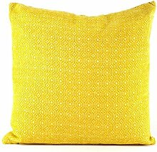 Pavillon Innen Line Kissen 45x 45cm, Polyester, gelb, 45x45x3 cm
