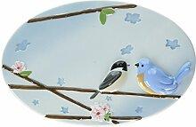 Pavillon Käseplatte Peace, Love and Birds 22,9 x