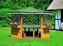 Pavillon MARBURG inkl. Möbel Gartenlaube Holzpavillon 309 x 309 x 211 cm