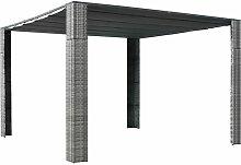 Pavillon Mit Dach Poly Rattan 300¡Á300¡Á200 Cm