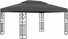 Pavillon mit Doppeldach 3x4 m Anthrazit - Youthup