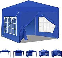 Pavillon mit Seitenwänden, 3 m x 3 m,