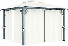 丨 丨Pavillon mit Vorhängen 2 Seitenwänden