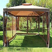 Pavillon mit Vorhängen, 3x3m Terrassenpavillon