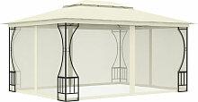 Pavillon Mit Vorhangen 300X400X265 Cm Creme