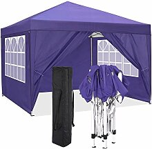 Pavillon mit wänden 3x3 Wasserdicht Outdoor