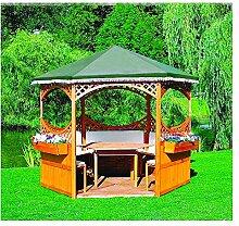 Pavillon Palma Foliendach mit oder ohne Möbel