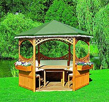 Pavillon PALMA I ohne Möbel Gartenlaube