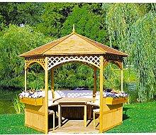 Pavillon Palma mit Holzdach mit oder ohne Möbel
