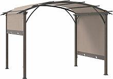 ® Pavillon Pergola mit einstellbarem Stoffdach